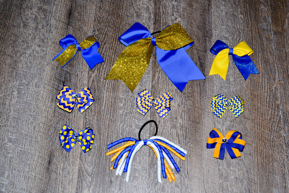 Wholesale Bulk Order - Royal Blue Gold Yellow School Spirit Pack - Dream Lily Designs