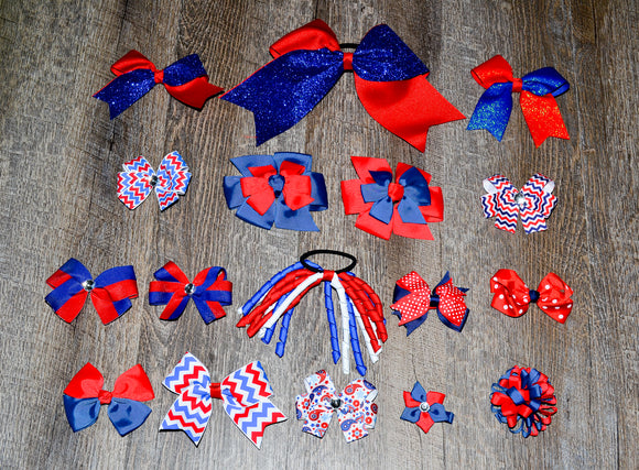 Wholesale Bulk Order - Red Blue School Spirit Pack - Dream Lily Designs