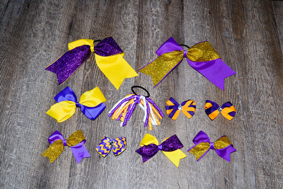 Wholesale Bulk Order - Purple Yellow Gold School Spirit Pack - Dream Lily Designs