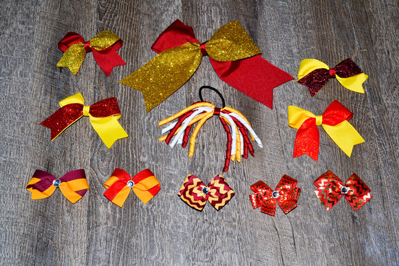 Wholesale Bulk Order - Maroon Red Yellow Gold School Spirit Pack - Dream Lily Designs