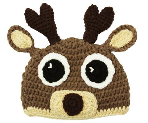 Reindeer Crochet Hat - Dream Lily Designs