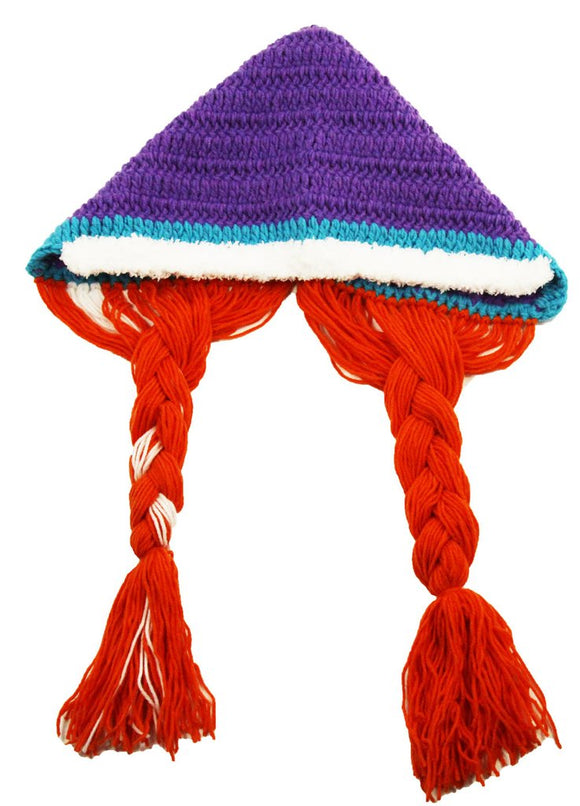 Anna (Frozen) Crochet Hat with Tails - Dream Lily Designs