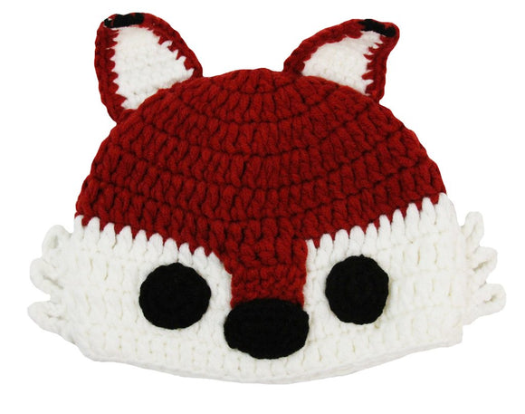 Red Fox Crochet Hat - Dream Lily Designs