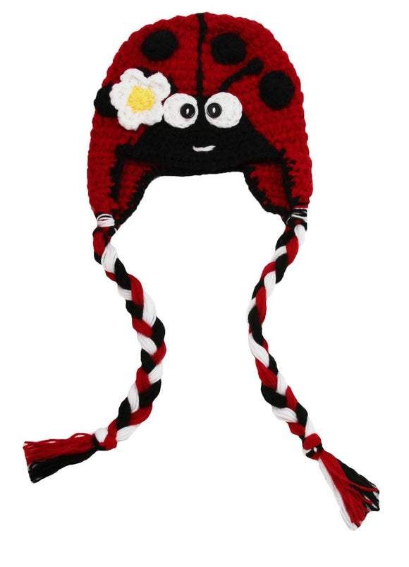 Lady Bug Crochet Hat with Tails - Dream Lily Designs