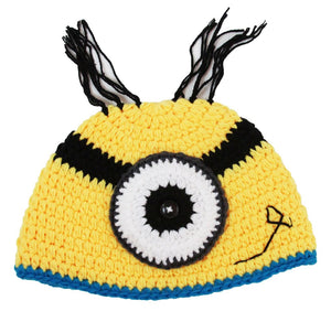 One-Eye Minion Crochet Hat - Dream Lily Designs