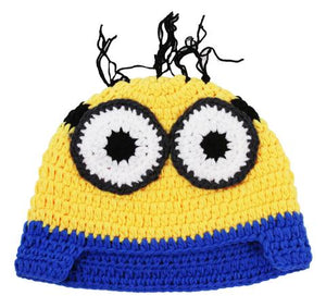 Two-Eye Minion Crochet Hat