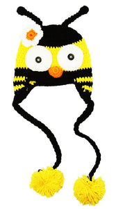 Bumble Bee Crochet Hat with Tails