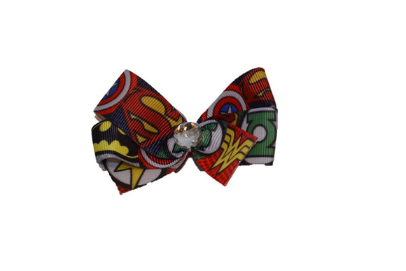 Superman, Wonder Woman, Batman Super hero bow (Superhero) - Dream Lily Designs