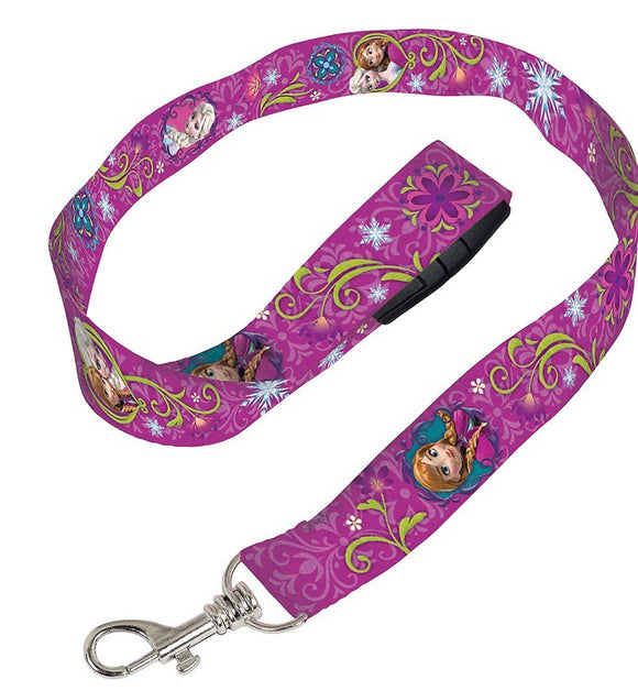 Frozen Anna Elsa Purple Lanyard Disney - Dream Lily Designs
