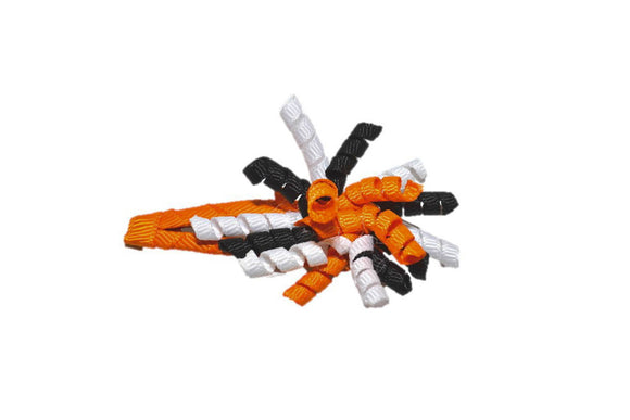 Mini Korker Snap Clip - Orange Black White - Dream Lily Designs