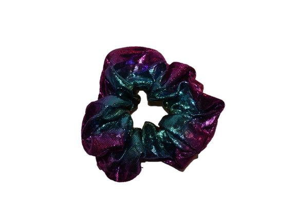 Scrunchie - Blue/Purple/Orange Glitter Fabric - Dream Lily Designs