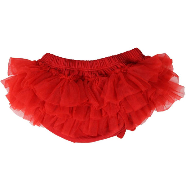 Red Chiffon Tutu Ruffle Diaper Cover 1
