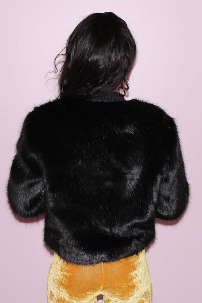 MARILYN BLACK FUR JACKET