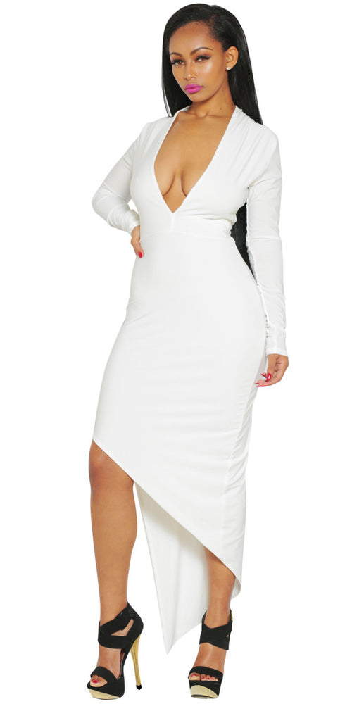 White bodycon dress by IMME COLLECTION.