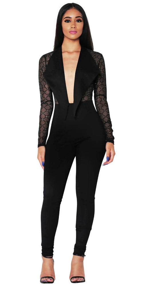 'NATALIA' BLACK JUMPSUIT