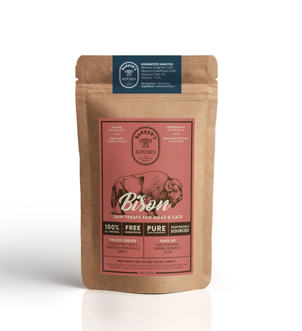 Premium Freeze-Dried Grass-Fed, Free-Range Bison Meat Raw Pet Treats