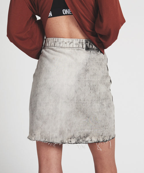 Vixen High Waist Denim Skirt - Sueño Clothing