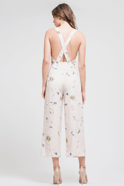 Open Back Sleeveless Jumpsuit - Sueño Clothing