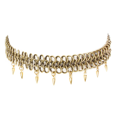 Kai V Necklace Brass