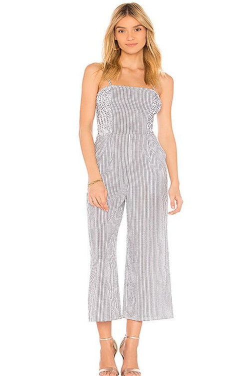 Anagram Stripe Jumpsuit - Sueño Clothing