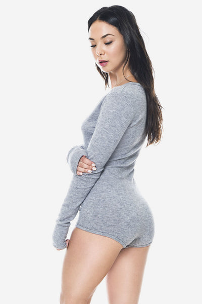 Hana Night Romper in Heather Grey - Sueño Clothing