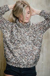 Pelegrine Mottled-Knit Sweater Beige - Sueño Clothing