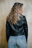 Cropped Biker Jacket - Sueño Clothing