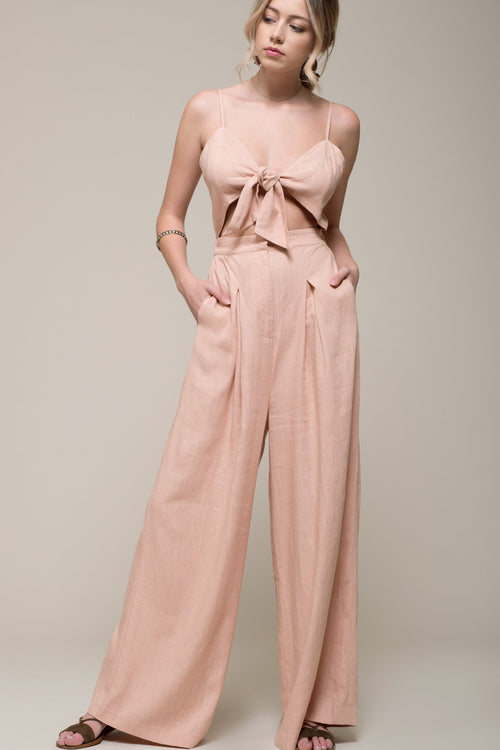 Front Cutout Jumpsuit - Sueño Clothing