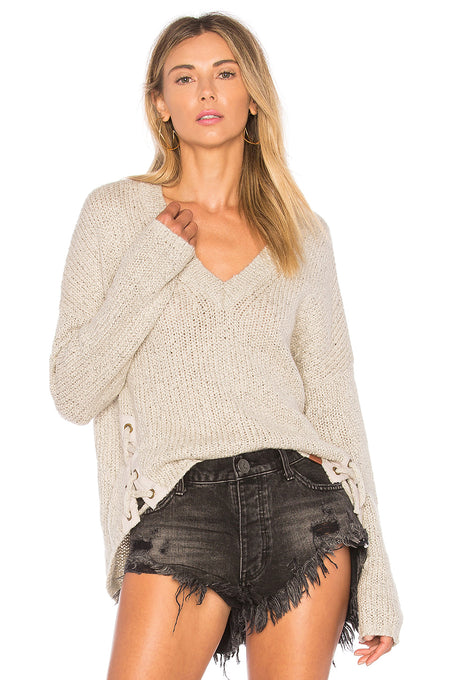 Pelegrine Mottled-Knit Sweater Beige