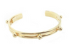 Polka Dot Cuff Gold - Sueño Clothing