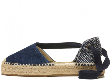 Smoking Slipper in Navy/White