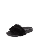Samantha Faux Fur Black - Sueño Clothing