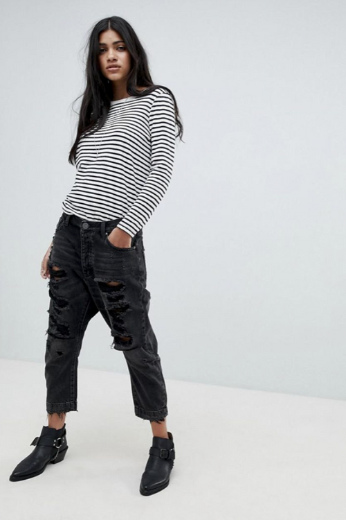 Hampton Kingpins Cropped Boyfriend Jean - Sueño Clothing