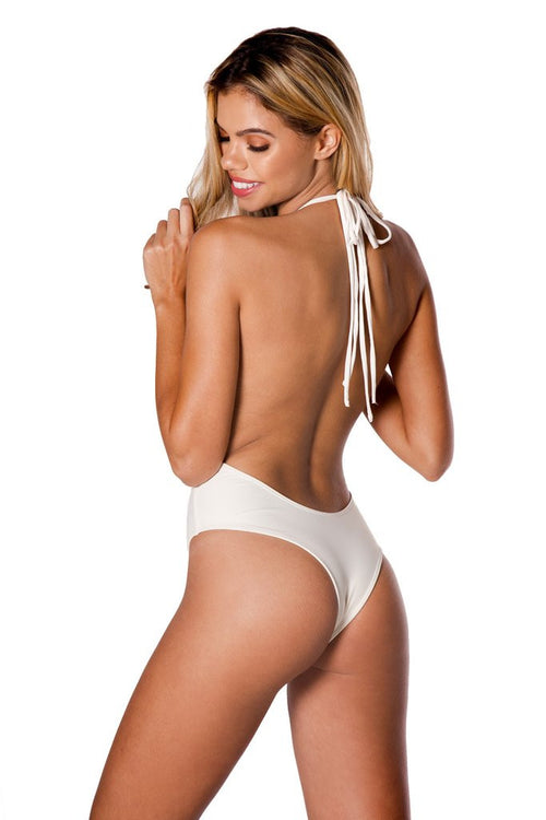 Palmilla Blanco Backless One-Piece - Sueño Clothing