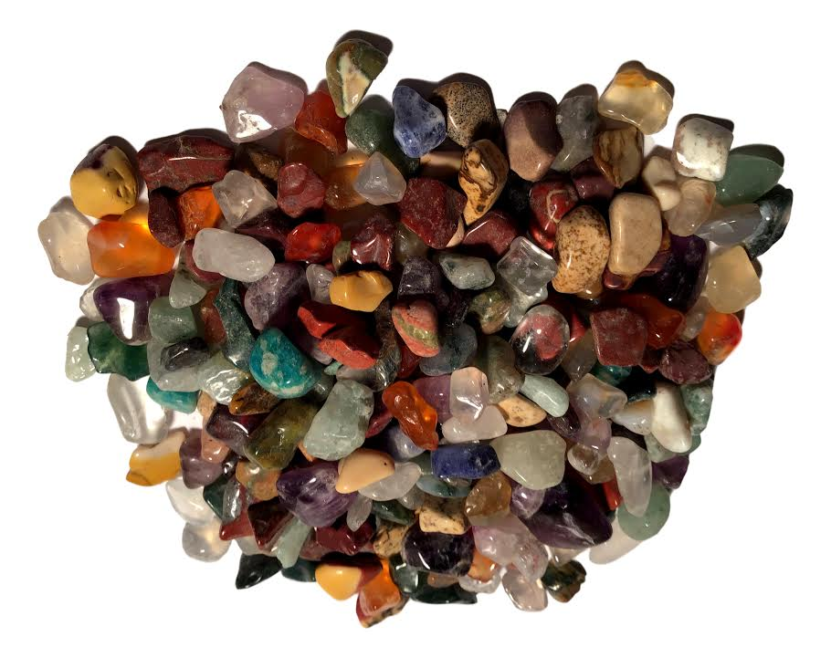 Mini Brazilian Polished Agate Stones - 1/2 pound - Hundreds - dinosaursrocksuperstore