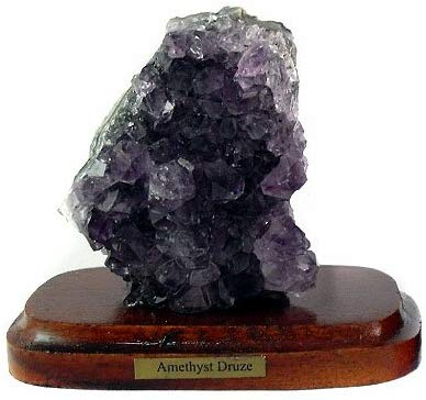 Amethyst Specimen on Decorative Wood Base - Gift Packaged - Great Gift!