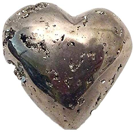 Pyrite Carved Heart - Gift Packaged - Great Gift - dinosaursrocksuperstore