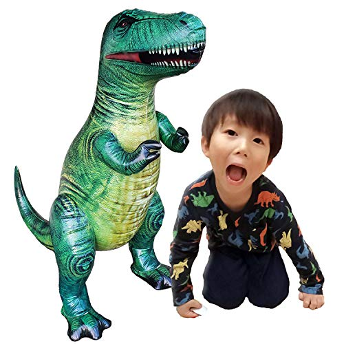 "Jet Creations 37"" T-rex Tyrannosaurus Inflatable Air Stuffed Plush Toy, Durable Self Standing"