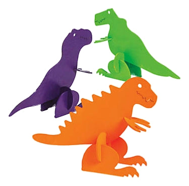 "Build Your Own T-Rex Wooden 6"" Dinosaurs - Tyrannosaurus Rex Craft Kits - 1 dozen - dinosaursrocksuperstore"