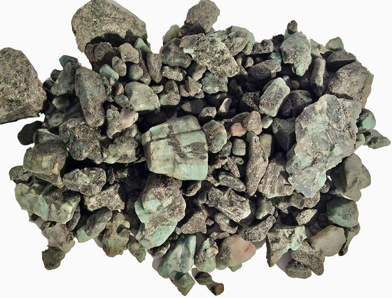 Genuine Rough Emerald Bulk Educational Mineral - 1 lb - 70+ Pieces - dinosaursrocksuperstore