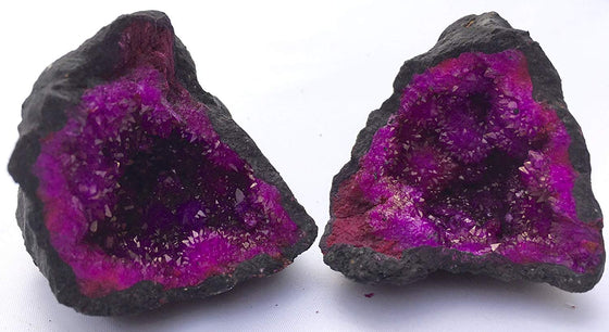 Fuchsia Moroccan Geode - Split - Gift Packaged - dinosaursrocksuperstore