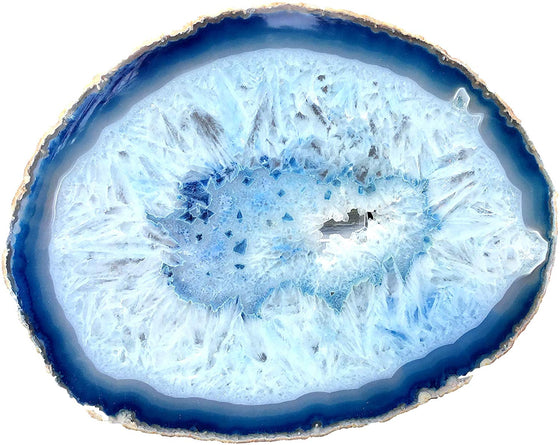 Blue Sliced Agate - dinosaursrocksuperstore