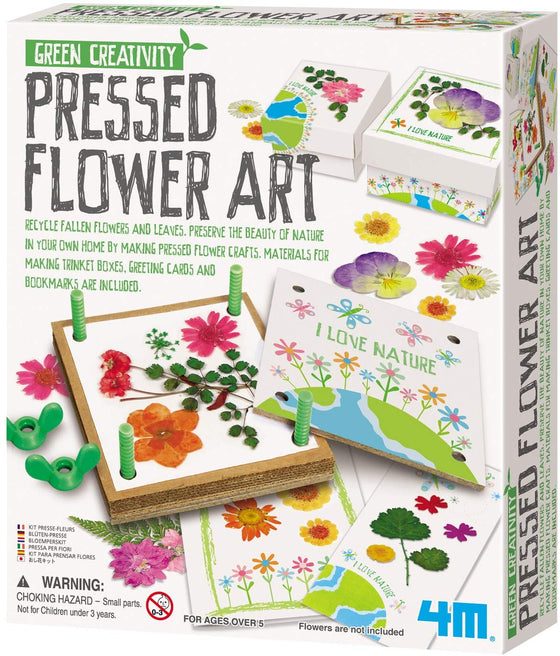 4M Green Creativity Pressed Flower Art Kit - dinosaursrocksuperstore