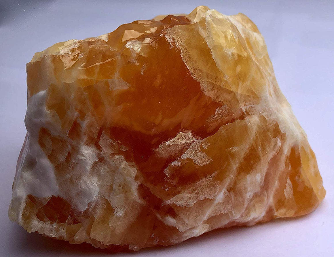"Orange-Dyed Calcite Display Specimen #4 - 5.25"" x 4"" - dinosaursrocksuperstore"