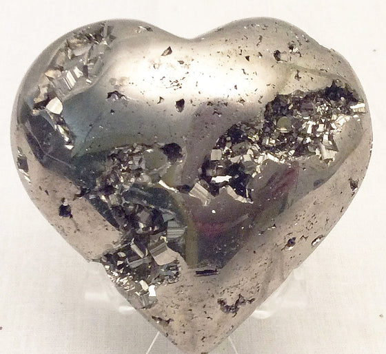 GEMS ROCK® Pyrite Carved Heart #55- Gift Packaged - Great Holiday Gift - dinosaursrocksuperstore