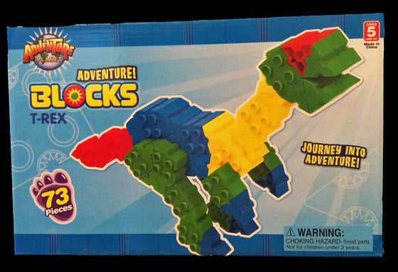 Adventure Planet ADVENTURE BLOCKS T-REX - dinosaursrocksuperstore