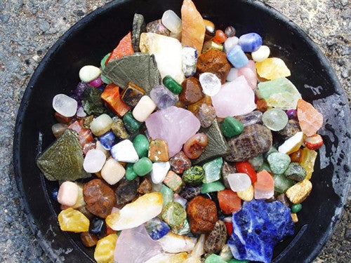 Genuine Gemstones & Mineral  Mix -1 lb -  Wide Variety! - dinosaursrocksuperstore