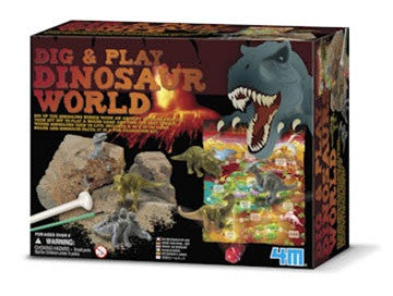 Dig and Play Dinosaur World - Excavation Kit - dinosaursrocksuperstore