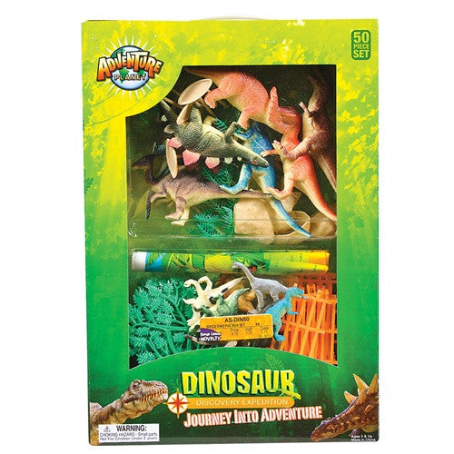 Dinosaur Toy Playset (50 pieces) - Discovery Expedition - dinosaursrocksuperstore
