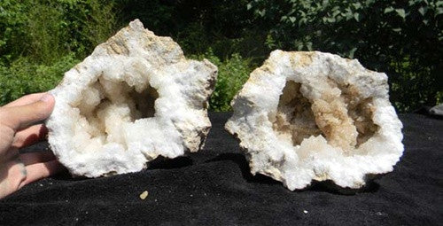 "Geode - Crystal-Filled Moroccan opened - 8""-10"" wide - dinosaursrocksuperstore"
